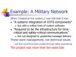 example a military network