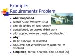 example requirements problem