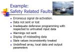 example safety related faults