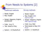 from needs to systems 2