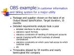 obs example a customer information and billing system for a major utility