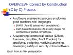 overview correct by construction c by c process