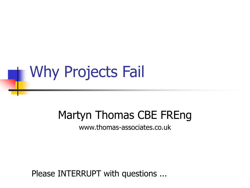 why projects fail l.