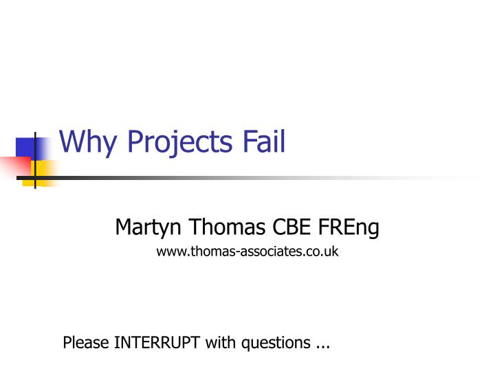 why projects fail n.