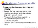 regulations employee benefits
