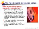 we need public insurance option24