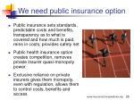 we need public insurance option25