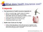 what does health insurance cost
