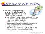 who pays for health insurance