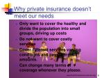 why private insurance doesn t meet our needs