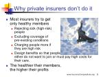 why private insurers don t do it