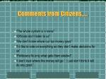 comments from citizens