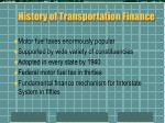 history of transportation finance1