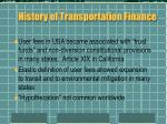 history of transportation finance2