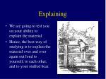 explaining
