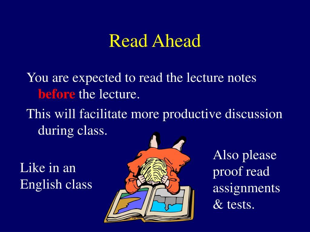 Read Ahead