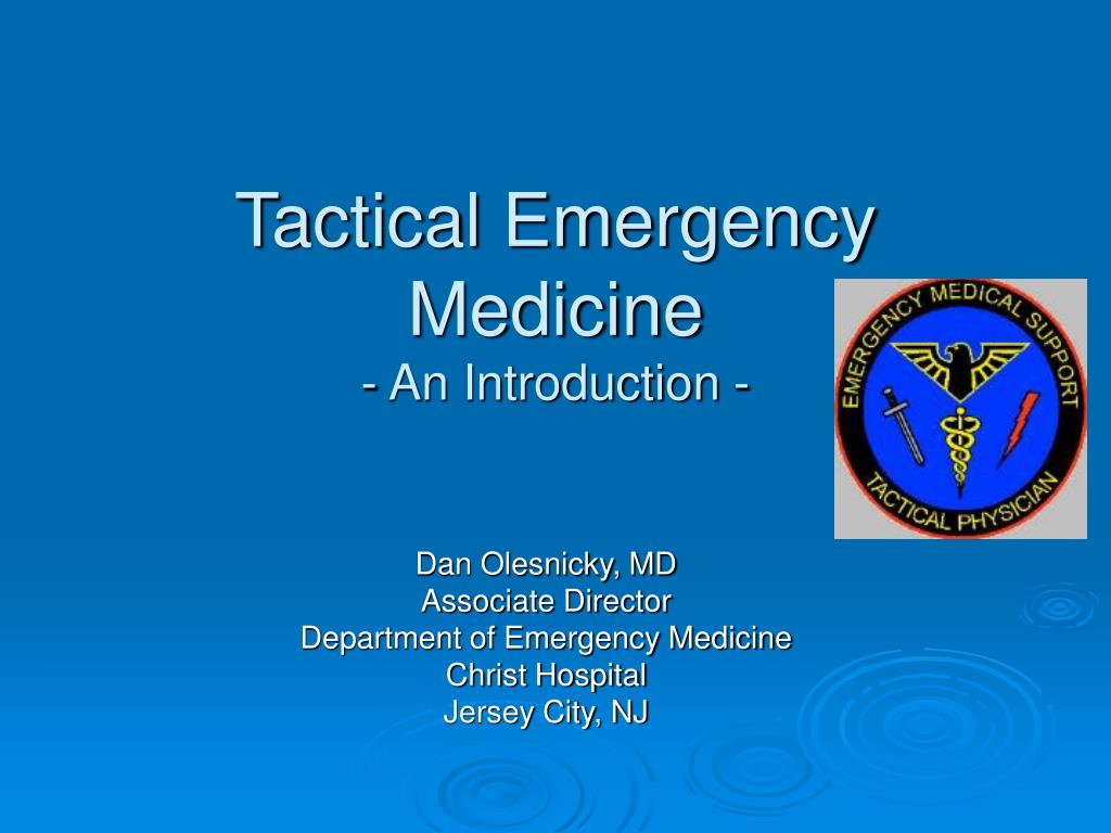 tactical emergency medicine an introduction l.