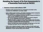 modeling the impact of ex post assessments in a guarantee fund such as pacicc