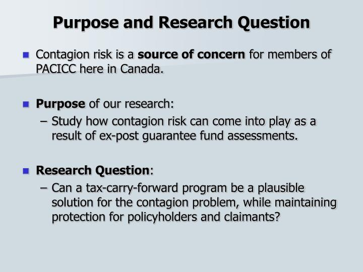 Purpose and research question