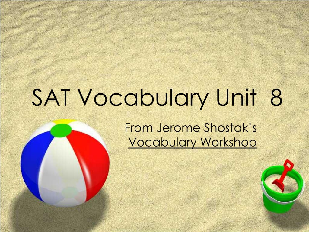 sat vocabulary unit 8 l.