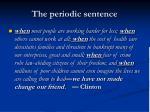the periodic sentence