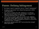 patents defining infringement