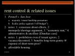 rent control related issues