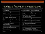 road map for real estate transaction114