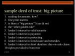 sample deed of trust big picture