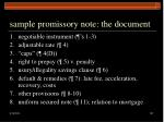 sample promissory note the document