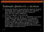 trademark qualitex co v jacobson