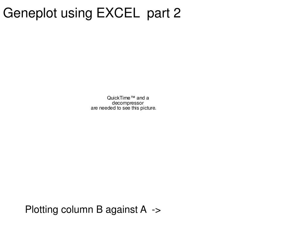 Geneplot using EXCEL  part 2