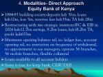 4 modalities direct approach equity bank of kenya