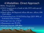 4 modalities direct approach