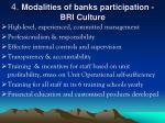 4 modalities of banks participation bri culture