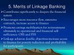 5 merits of linkage banking