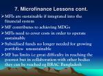 7 microfinance lessons cont