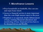 7 microfinance lessons
