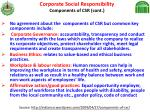 corporate social responsibility components of csr cont