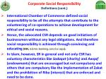 corporate social responsibility definitions cont