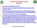 corporate social responsibility definitions