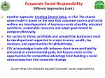 corporate social responsibility different approaches cont