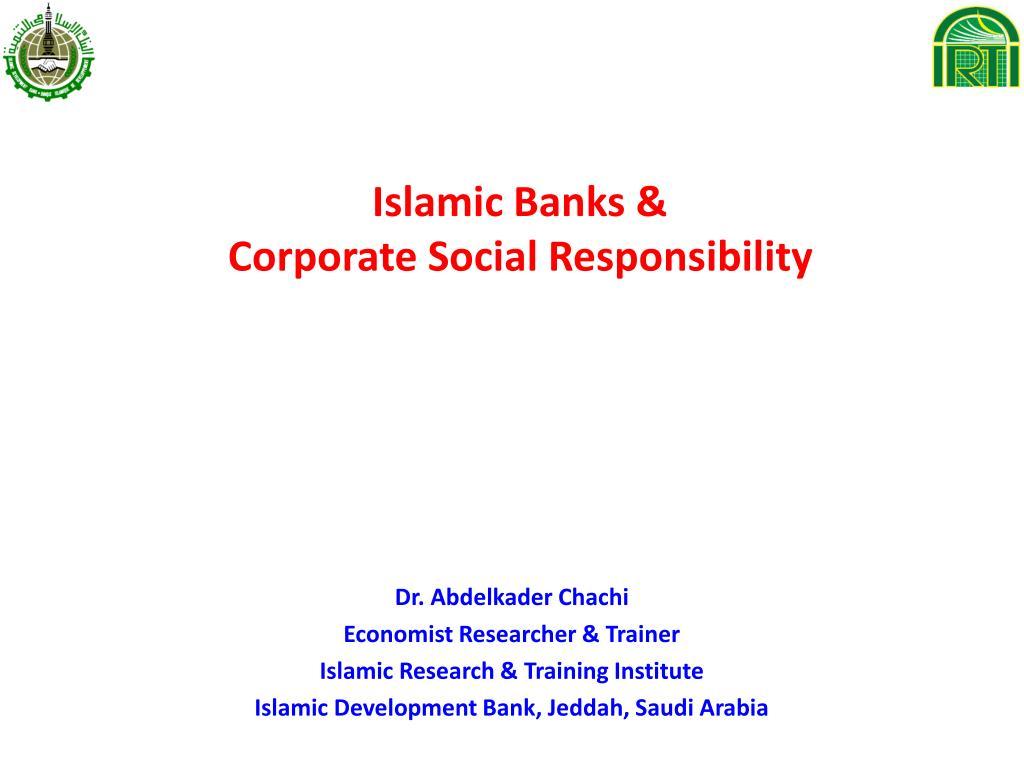 islamic banks corporate social responsibility l.