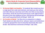 islamic banks corporate social responsibility qur anic evidence on aspects of social responsibility