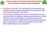 islamic banks corporate social responsibility qur anic evidence on aspects of social responsibility24