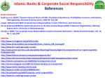 islamic banks corporate social responsibility references