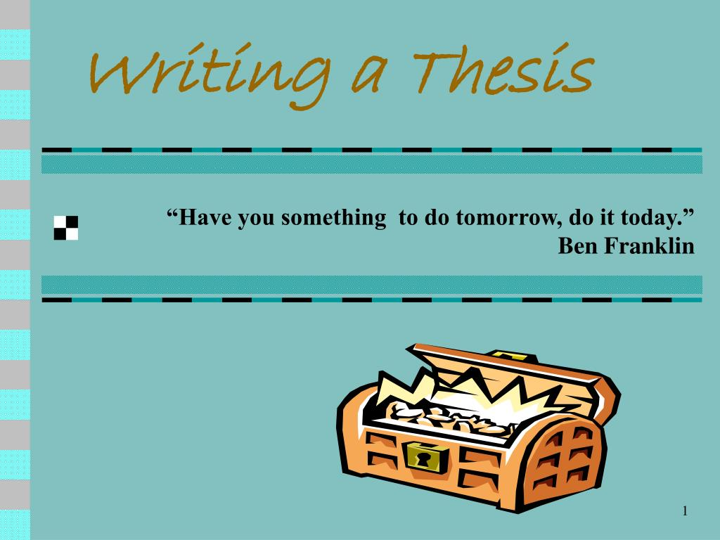 writing a thesis l.
