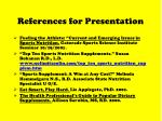 references for presentation