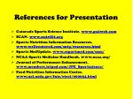 references for presentation68