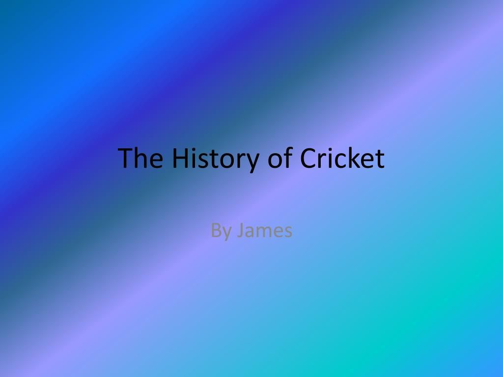 the history of cricket l.